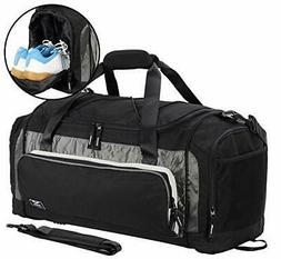 MIER Large Duffel Bag Men's Gym Bag with Shoe Compartment 60