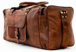 Large Leather Travel Bags for Men Duffel Bag Gym Sports Over