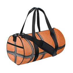 Naanle Macro Basketball Texture Brown Gym bag Sports Travel