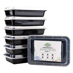 Meal Prep Containers Single 1 Compartment with Lids Bento B