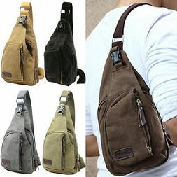 Men Military Tactical Shoulder Bag Sling Chest Pack Crossbod