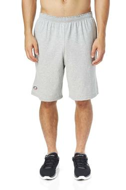 Champion Men's Cotton Jersey 9-Inch Athletic Shorts With Poc