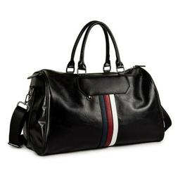 Men's Leather Duffle Gym Bags Carry-on Luggage Shoulder Bag