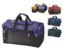 "17"" Duffle Bag Duffel Travel Size Sports Gym Bags Workout Bl"