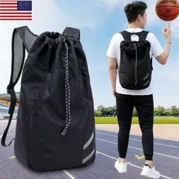 Men Women Waterproof Gym Sport Backpack Drawstring Sack Trav