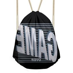 Mens Boys Personality Drawstring Backpack Cool Gym Sport Run