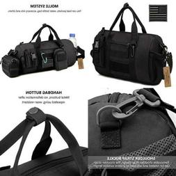 Mens Gym Pack Military Duffle Molle Tactical Cargo Gear Shou