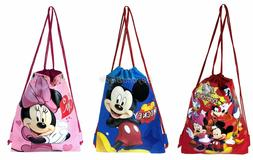 Disney Mickey and Friends Set of 3 Drawstring backpack Schoo