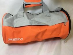 MIER Barrel Sports Bag Small Gym Bag with Shoes Compartment