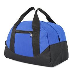 "DALIX 12"" Mini Two Tone Duffle Bag in Royal Blue"