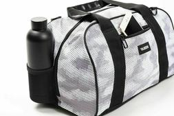 new burner gym duffel bag snow hex