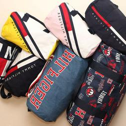 NEW Tommy Hilfiger Duffle Bag Harbor Point Gym Bag White Red