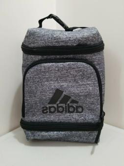 NEW Adidas Excel Insulated Gym Lunch Bag 3 Zippered Pack Gra