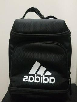 NEW Adidas Excel Insulated Gym Lunch Bag 3 Zippered Pack Bla