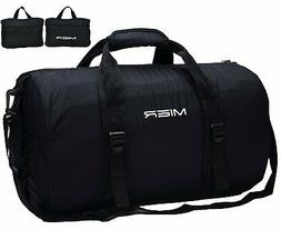 New! MIER Foldable Small Black Duffel Bag Lightweight Sports