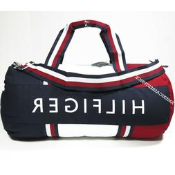 TOMMY HILFIGER NEW LARGE DUFFLE BAG/GYM BAG NWT BLUE RED WHI