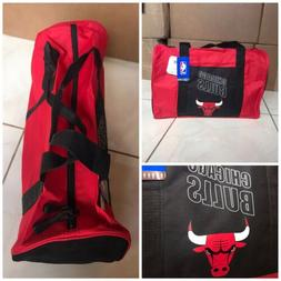 New! NBA Chicago Bulls duffle gym bag in red and black with