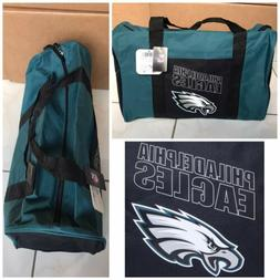 New! NFL Philadelphia Eagles Gym Duffle Bag Green Black W Lo
