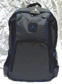 NEW NIKE AIR JORDAN JUMPMAN GYM BACKPACK LAPTOP BAG GRAY/BLU