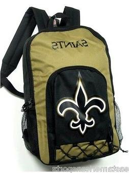 New Orleans Saints NFL Echo Backpack School Book Bag Full Si
