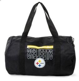 NEW Pittsburg Steelers Black Duffle Gym Bag Steele City Pitt