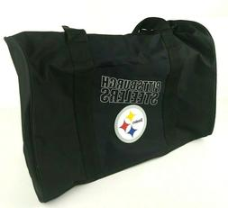 New Pittsburgh Steelers Black 18x12 Duffle Bag Gym Workout N
