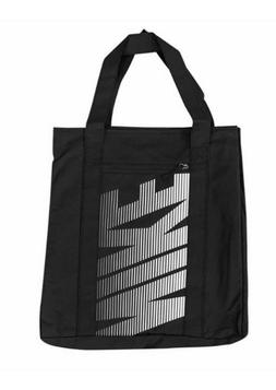 "NEW NIKE WOMEN'S GYM TOTE BAG BLACK / WHITE 17"" X 14"" X 6"" B"
