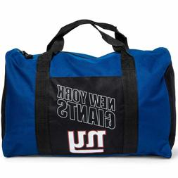 New York Giants Duffel Bag Gym Bag Overnight Bag 18x12x8 NFL