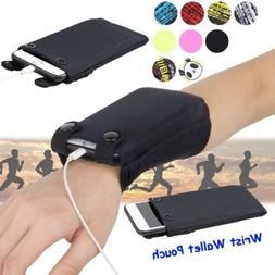 Newest Wrist Wallet Pouch Band Phone Running Travel Gym Cycl