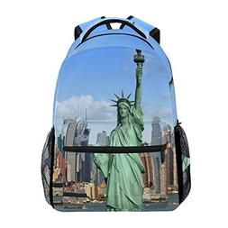 JSTEL New York Statue Of Liberty School Backpacks For Girls