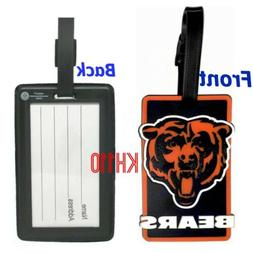 NFL Chicago Bears Soft Luggage Bag Tag / Gym Bag / Golf Bag