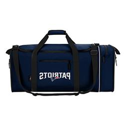 NFL New England Patriots NFL Steal Duffel, Navy, Measures 28