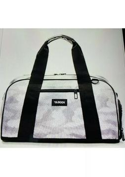 NWT $50 Vooray Burner Snow Hex Gym Bag White Gray Magnetic H