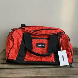 NWT VOORAY Burner Gym Duffle Bag Red Floral Lightweight