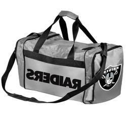 * Oakland Raiders Official NFL Duffel Gym Bag - Grey