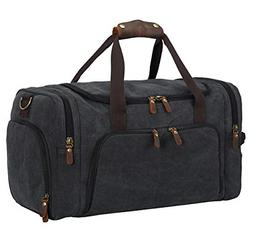 Overnight Bag Travel Canvas Duffle Bag with Shoe Compartment