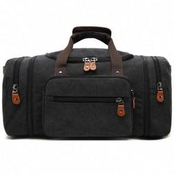 Kenox Oversized Canvas Travel Tote Luggage Weekend Duffel Ba