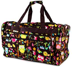Owl Give A Hoot Owl Print Large Duffle Bag