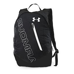 Under Armour Packable Backpack, Black /White, One Size