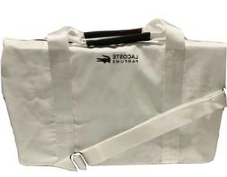 Lacoste Parfums White Weekender Gym Sports Polyester Duffle