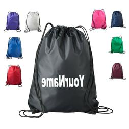 Personalized Drawstring Bag Cinch Backpack Tote Pack Monogra