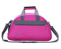 "MIER Pink 20"" Sports Gym Shoulder Bag Travel Duffel Bag with"