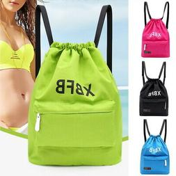 Portable Backpack Waterproof Gym Drawstring Bag Dry Wet Bags