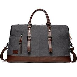 Fresion Portable Outdoor Holdall Canvas Handbag with Genuine
