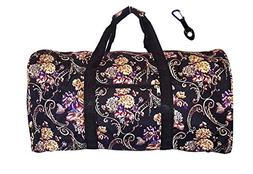 21 in Print Duffle, Overnight, Carry on Bag with Outside Poc