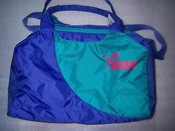PUMA PURPLE/ Green DUFFLE GYM SPORTS YOGA CROSS FIT NYLON BA