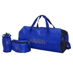 Russell RA220 Athletic Bag 3Pc Workout Set - Blue/Black