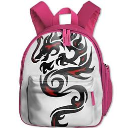 Red And Black Dragon Unisex full-print backpack with pocket