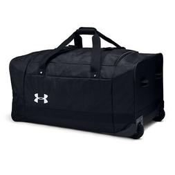 Under Armour Road Game XL Wheeled Duffle Bag, Black /White,