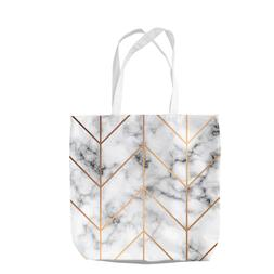 Rose Gold and Marble Tote Bag Shopping Beach School Gift Swi